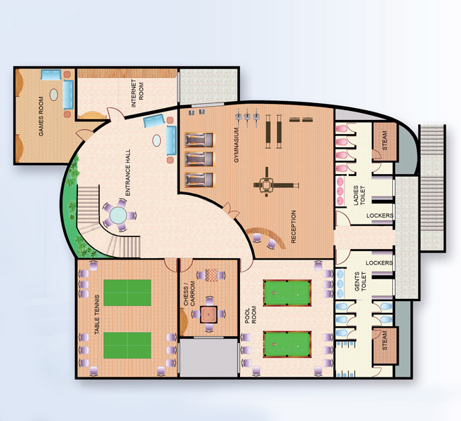 Ideal heights site plan for 2 3 bedroom apartments in for Ideal house plan